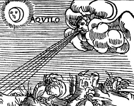 Olaus Magnus Historia om de nordiska folken. Bok 1 - Kapitel 9 - Om nödvändigheten af vindkännedom. Utgivningsår 1555.
